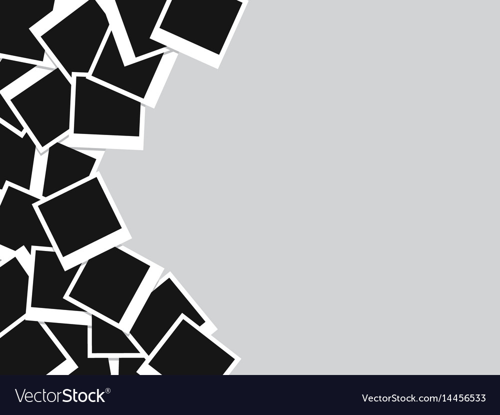 Photo frames background vector image