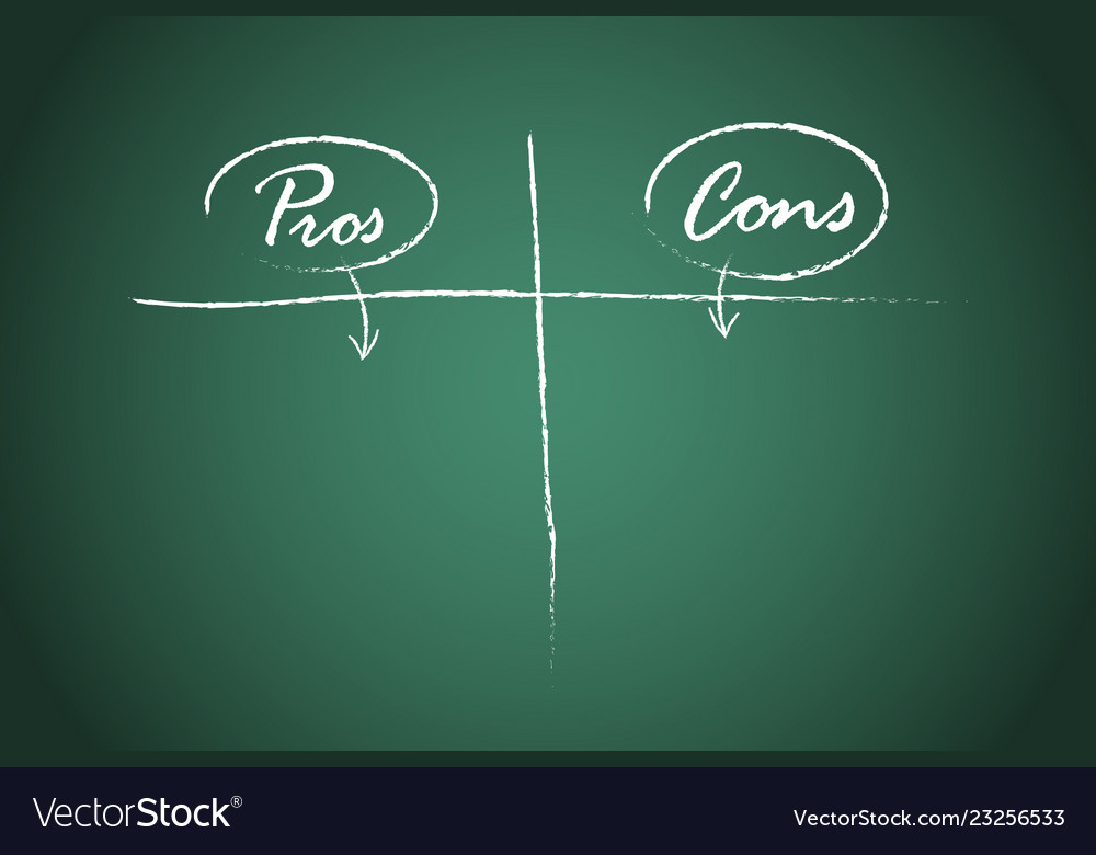 Pros and cons comparison template Royalty Free Vector Image
