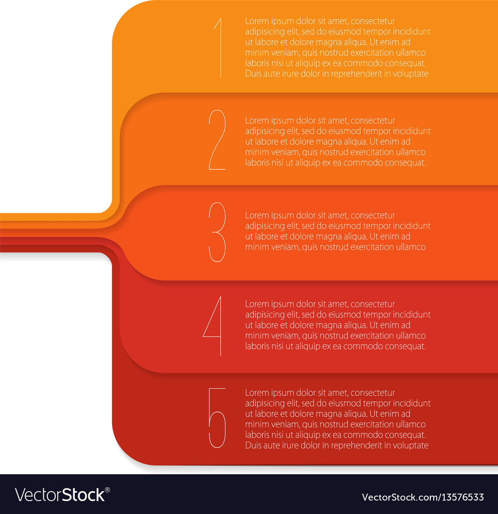 Step by step infographics template vector image