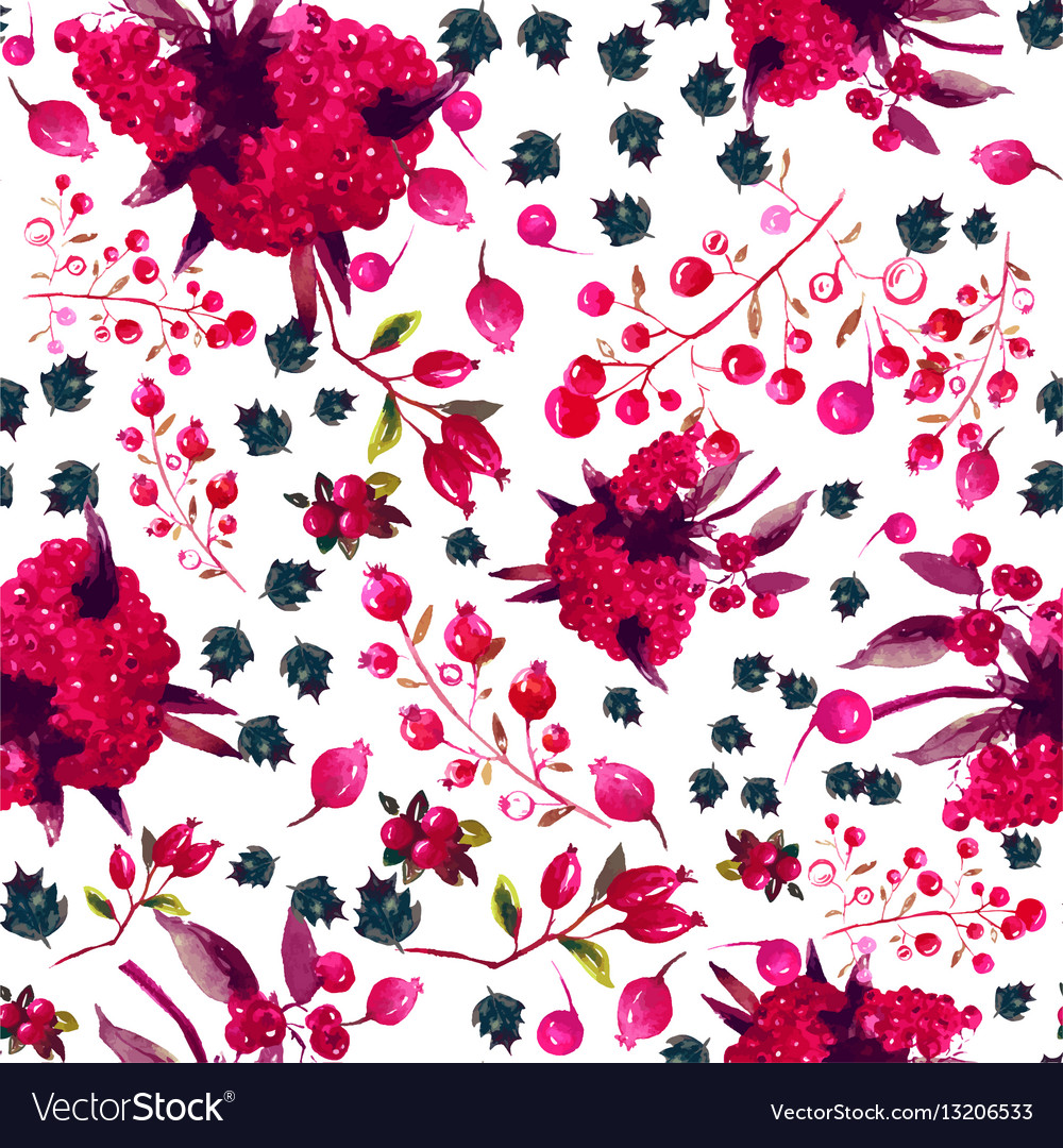 Watercolor Seamless Floral Pattern Royalty Free Vector Image
