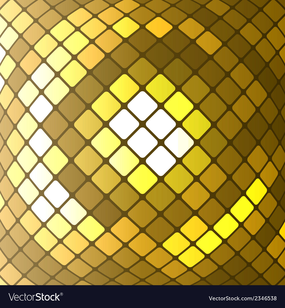 Abstract golden mosaic background