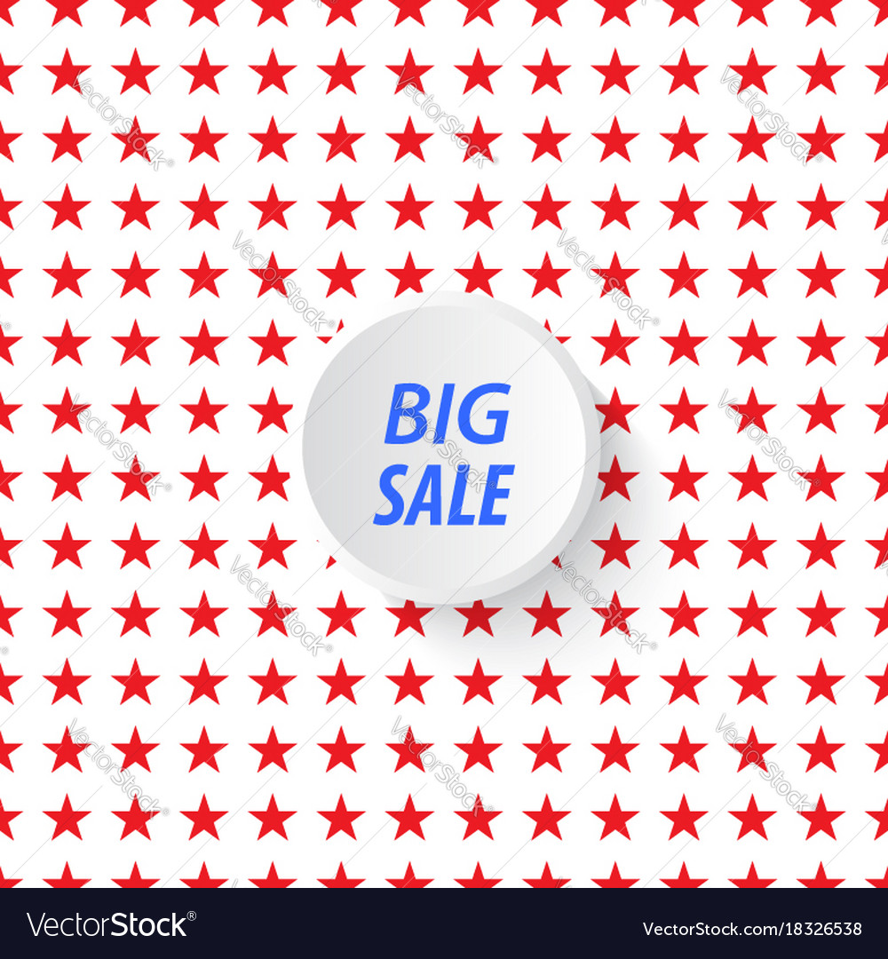 Banner big sale in the background of stars