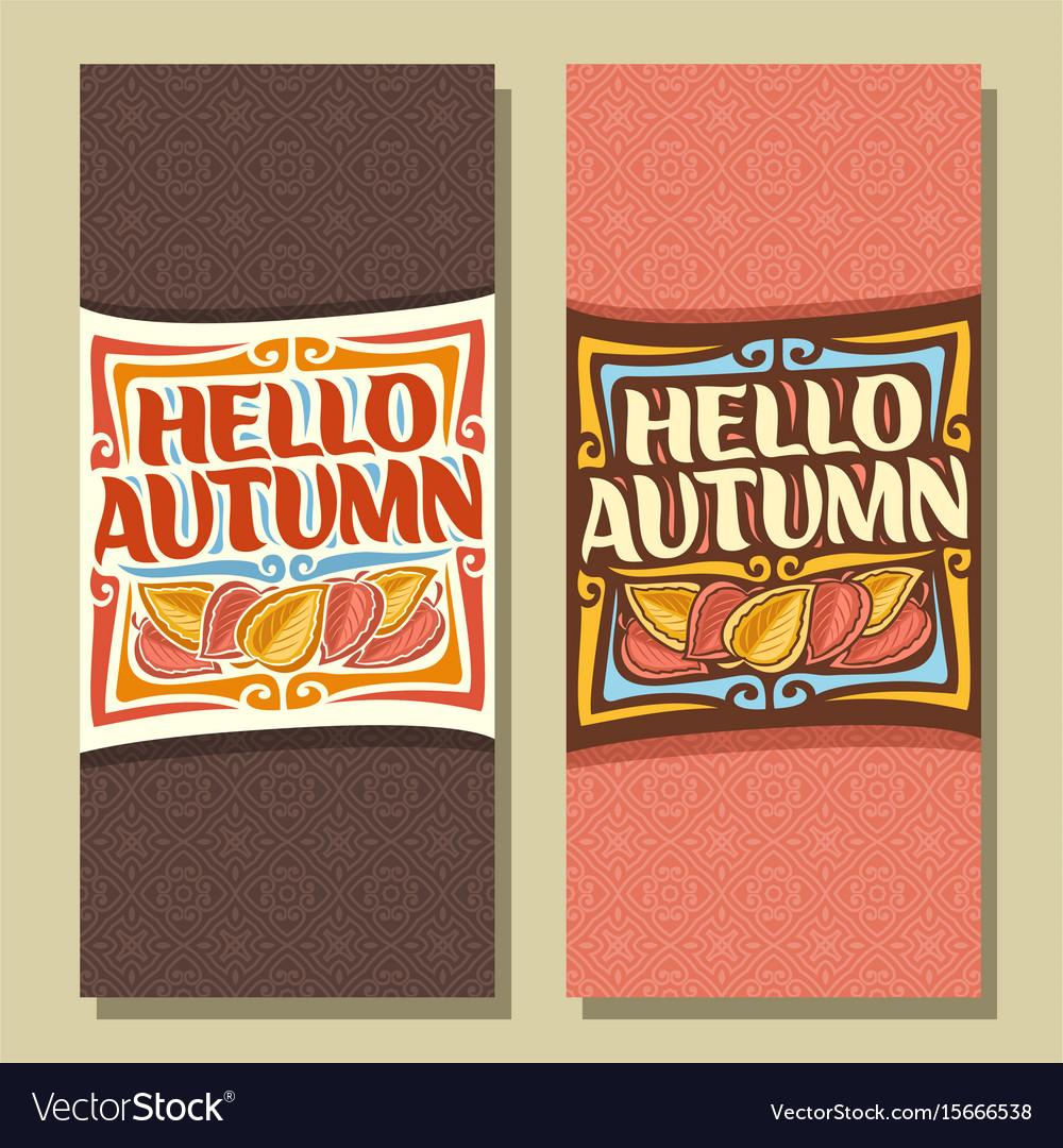 Banners for autumn season