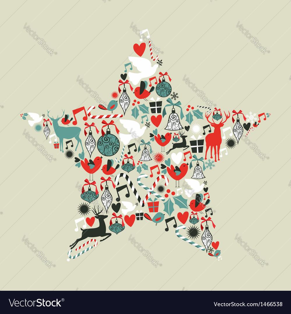Christmas icons star shape