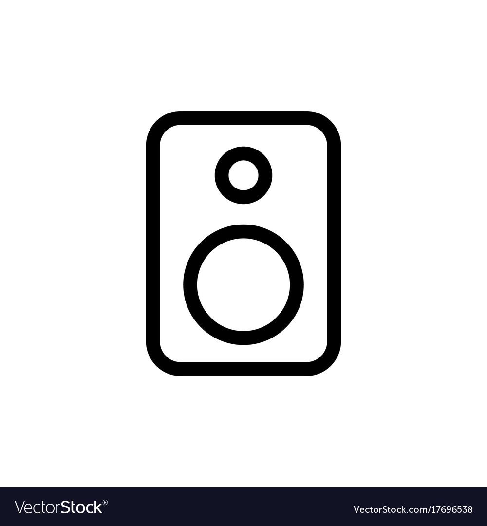 Line speaker icon on white background vector image