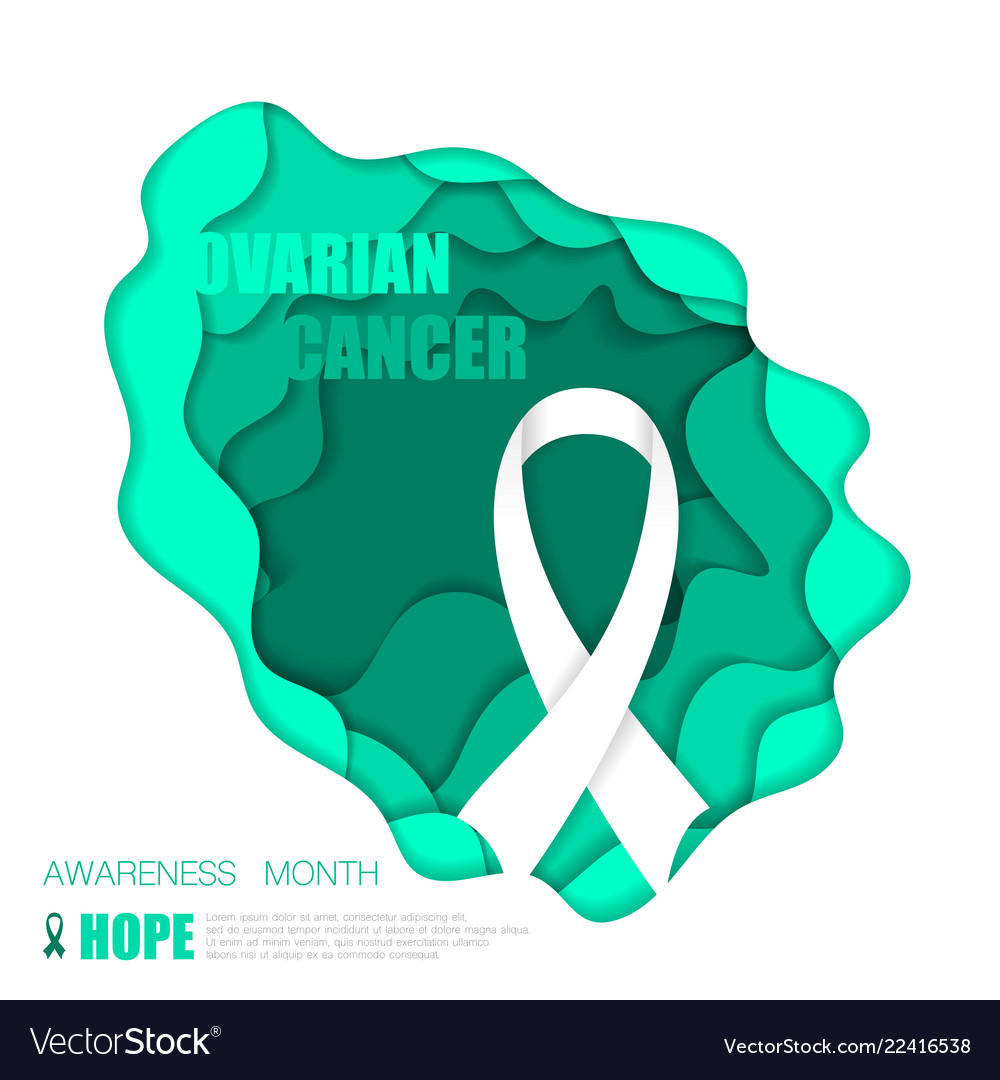 Ovarian Cancer Background Royalty Free Vector Image