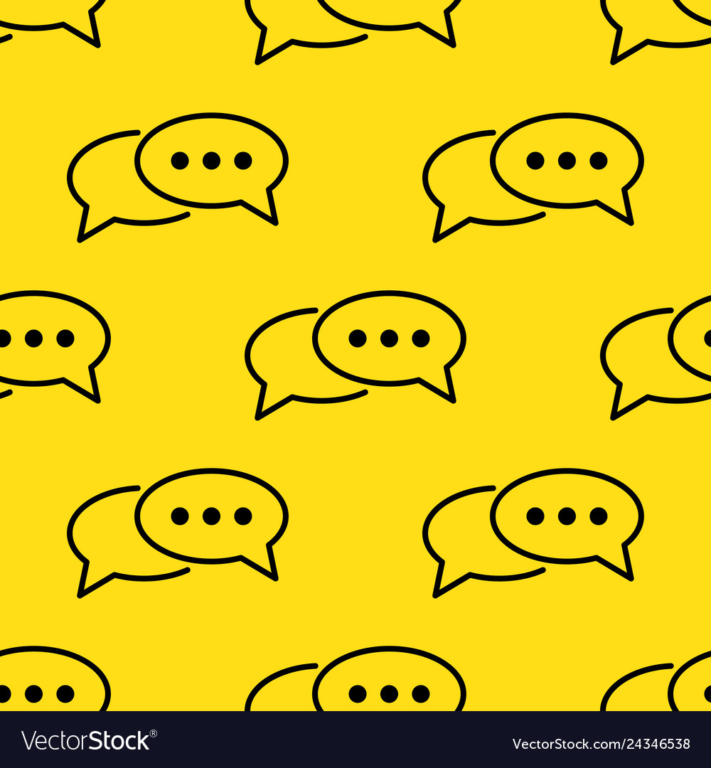 Speech bubble seamless pattern