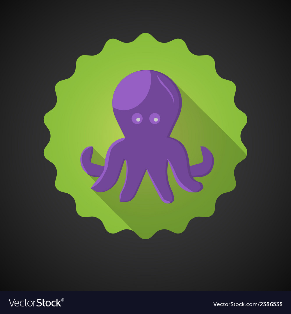 Summer Travel Sea Octopus Squid flat icon
