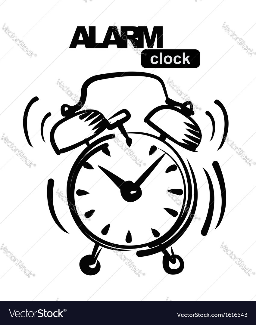alarm clock royalty free vector image vectorstock Clock Drawing alarm clock vector image