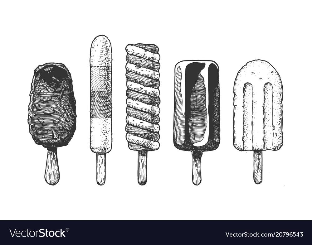 Ice cream bar vector image