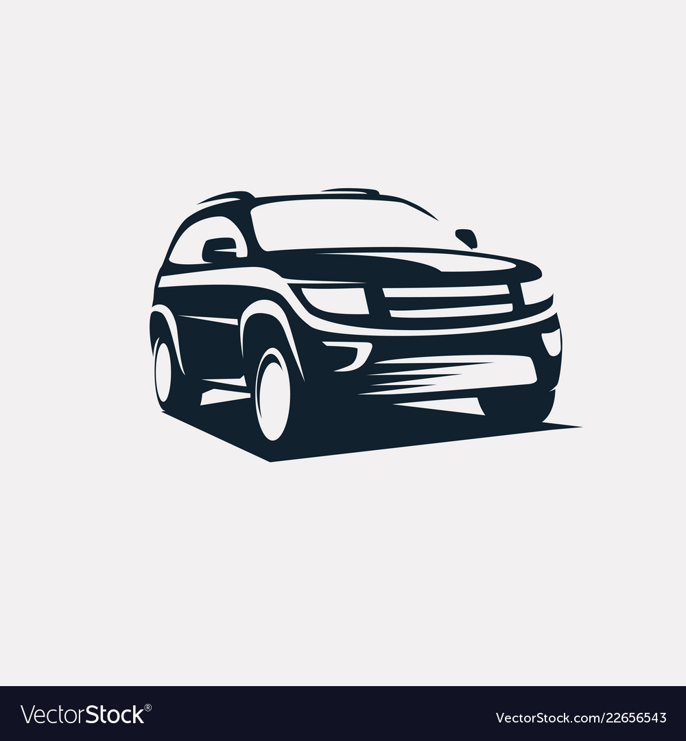 Modern suv logo template offroader car stylized