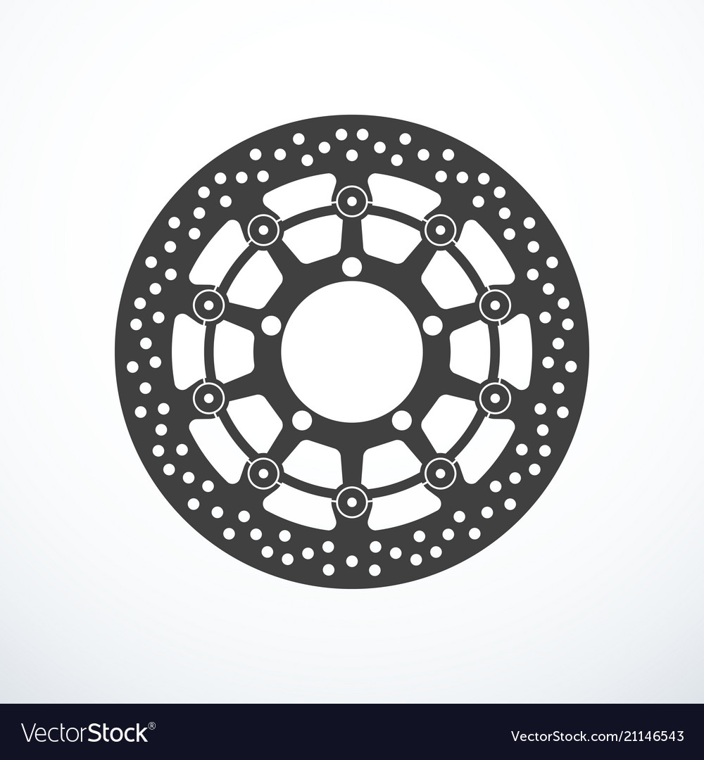 Motorcycle Brake Disc Isolated Royalty Free Vector Image