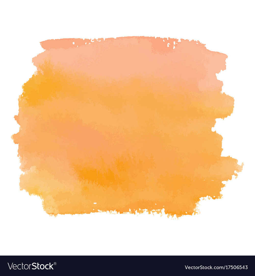 Orange color watercolor hand drawn gradient banner