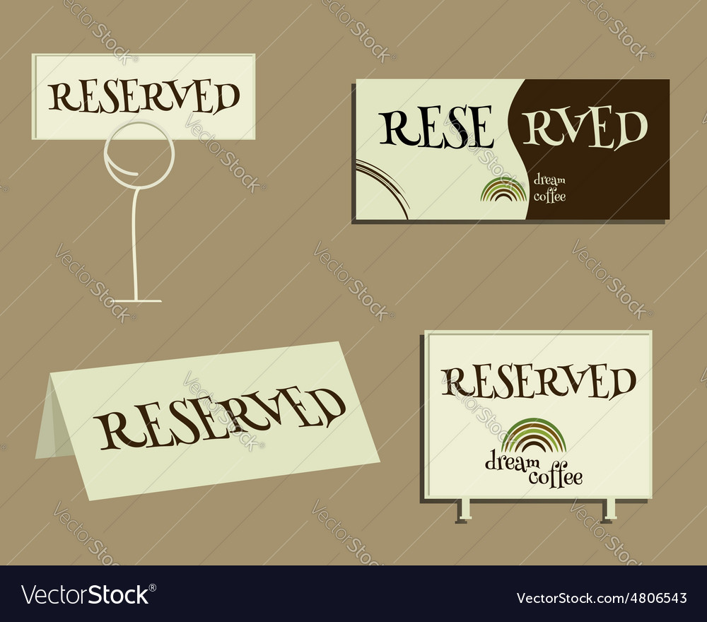 Reservation sign With Green coffee logo design
