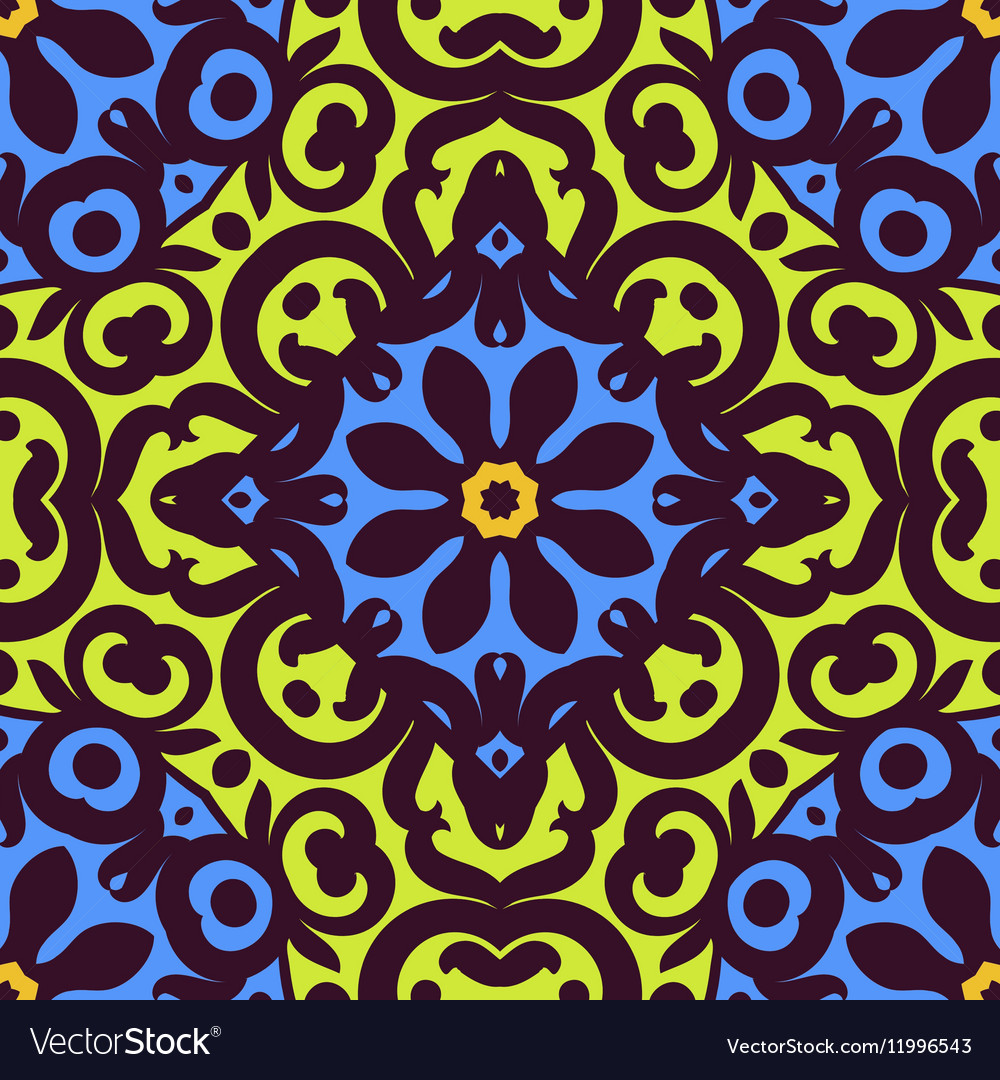 Seamless pattern with bright ornament Tile in