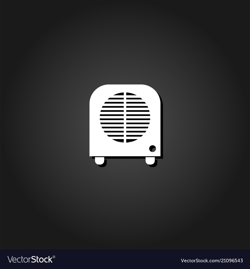 Space heater icon flat