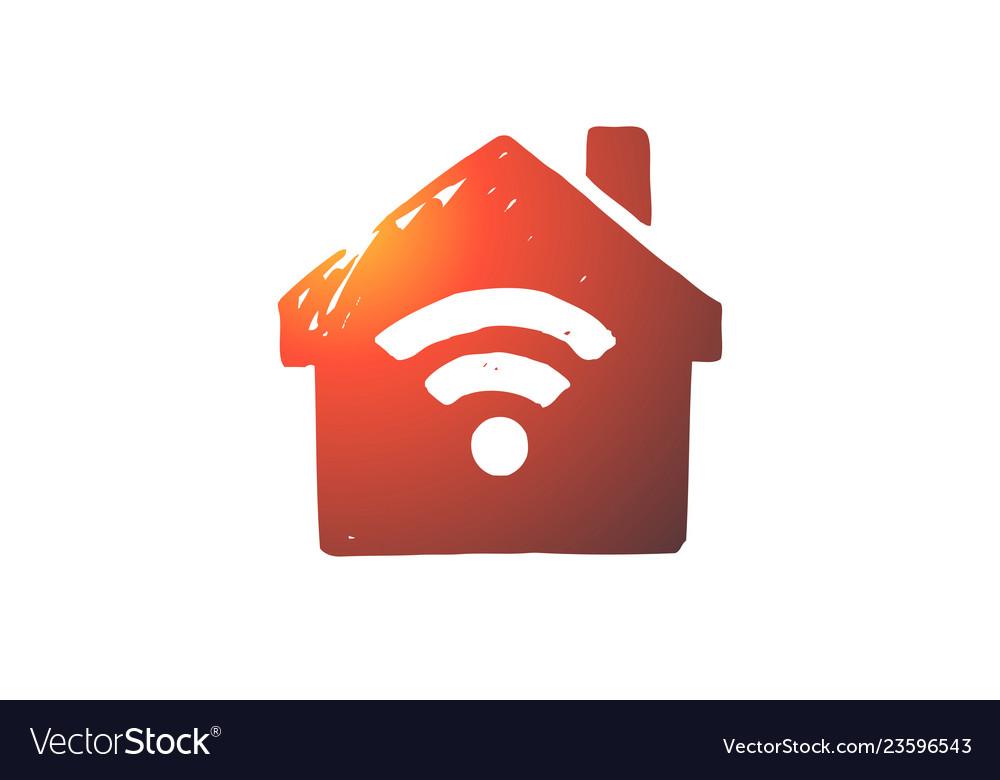 Wi-fi internet connection web signal concept