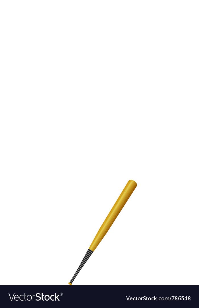 Baseball-bat vector image
