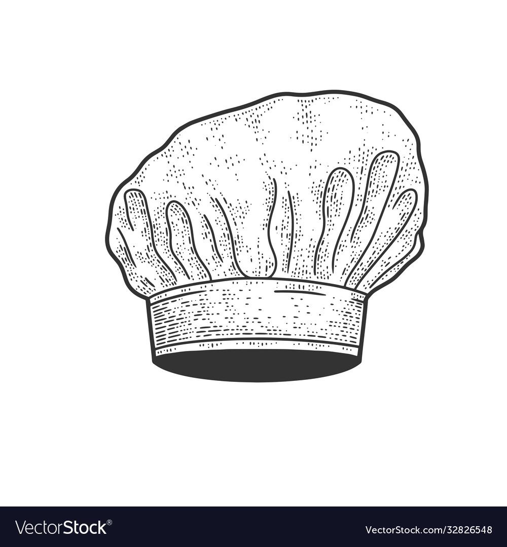 Chef white hat sketch