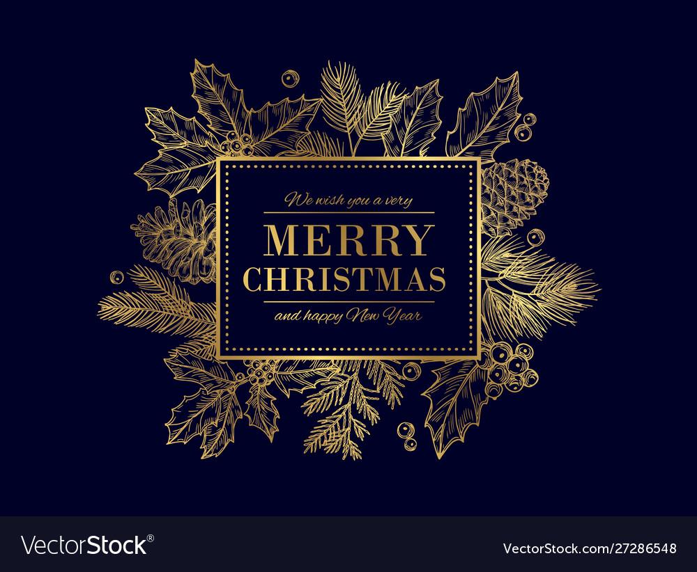 Christmas card merry christmas frame festive