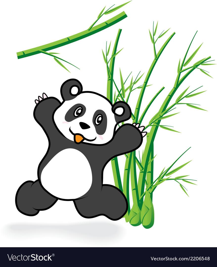 Cute Panda Bear in Bamboo Forrest 05