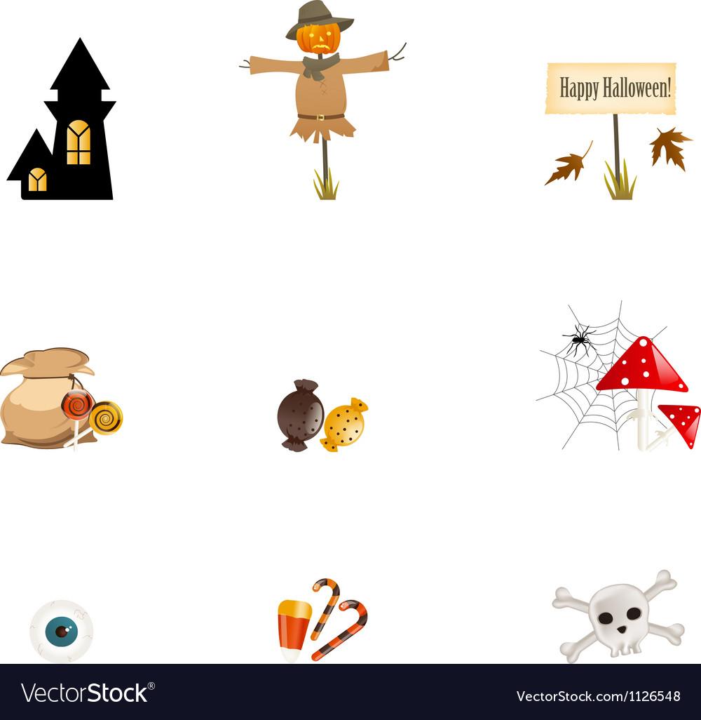 Halloween Symbols Royalty Free Vector Image Vectorstock