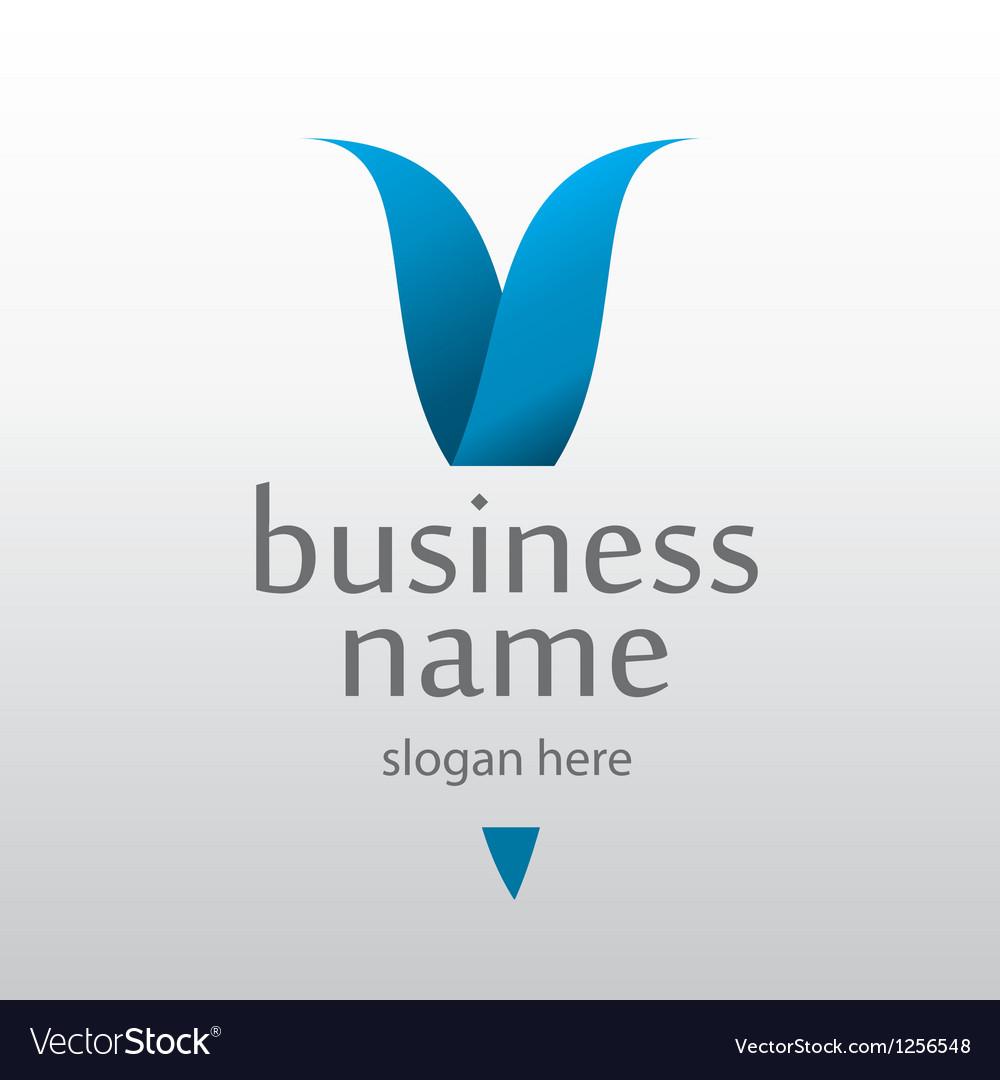 Logo with a blue letter v
