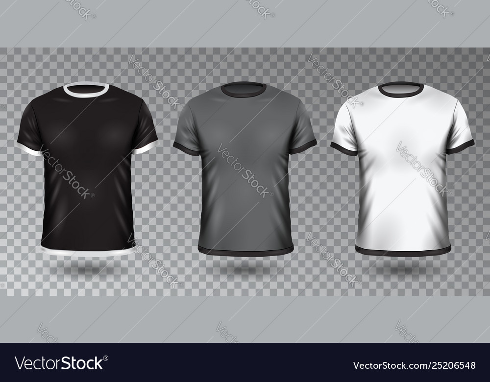 Realistic unisex shirt design tempale on