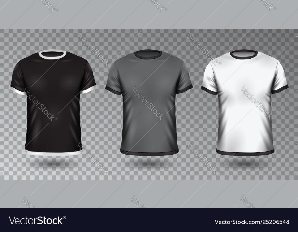 Realistic unisex shirt design tempale