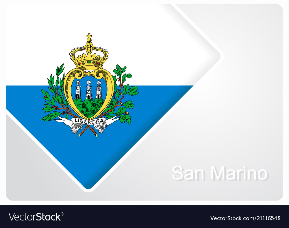 San marino flag design background Royalty Free Vector Image