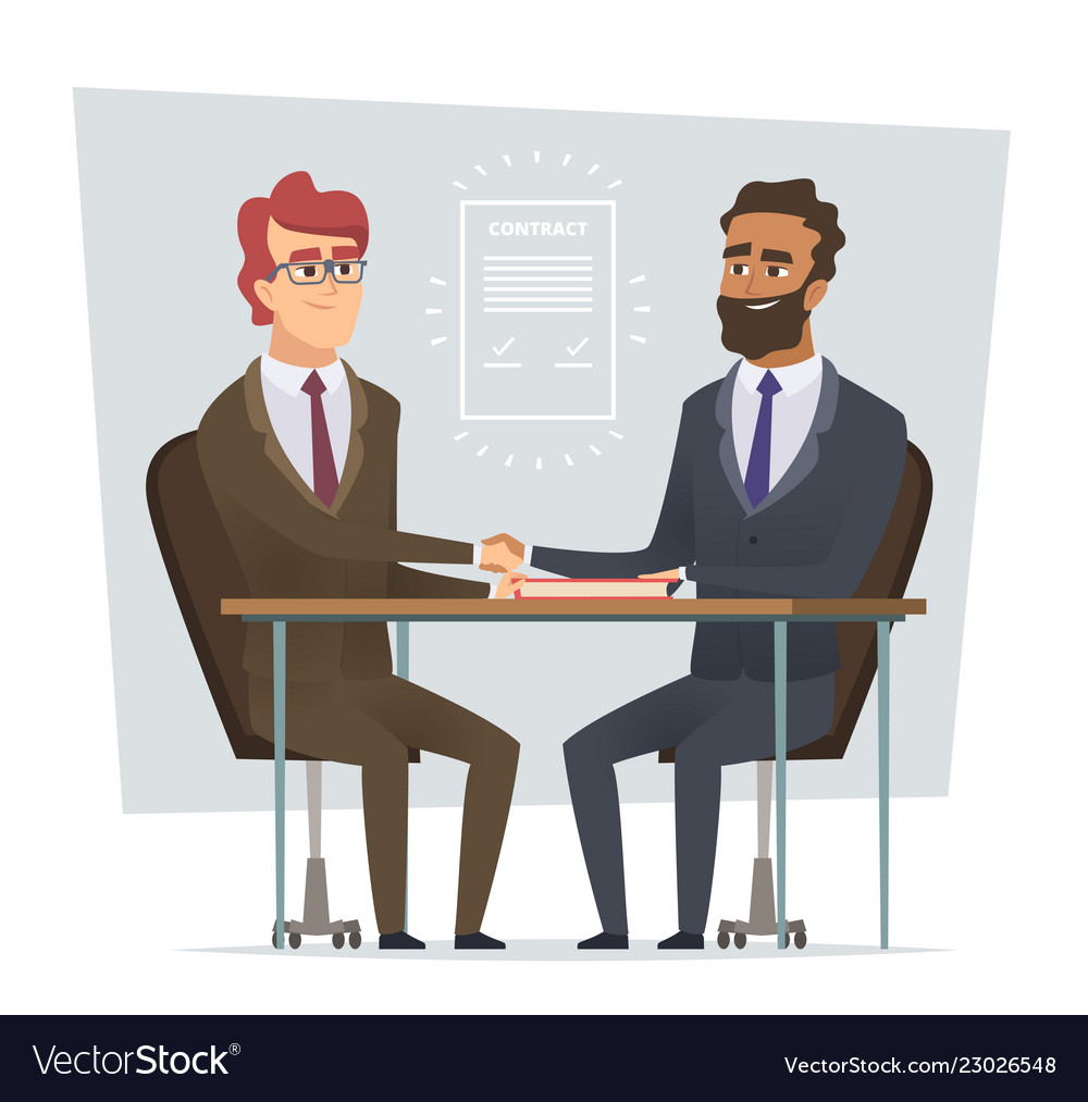 Sign contract business meeting selling deal