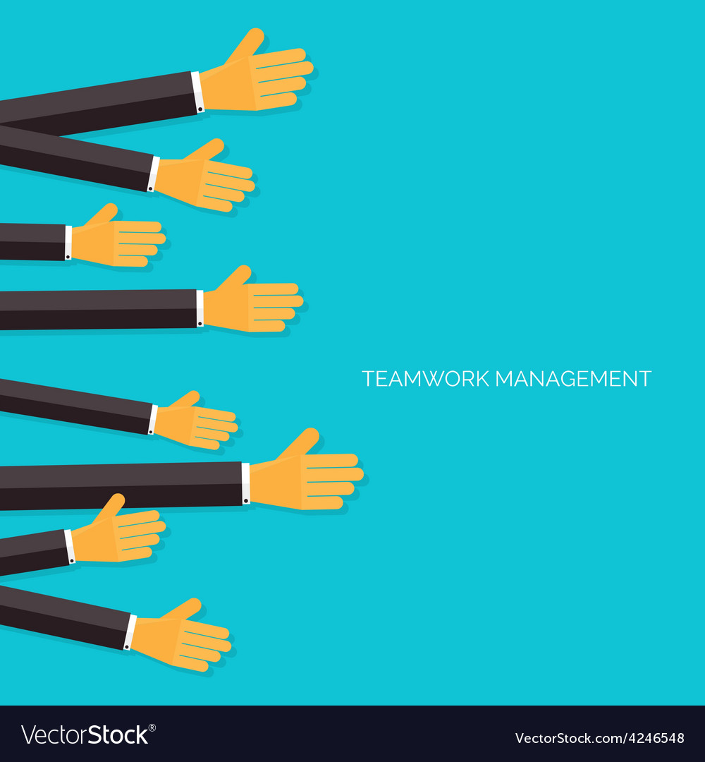 Teamwork management concept Flat icons Global