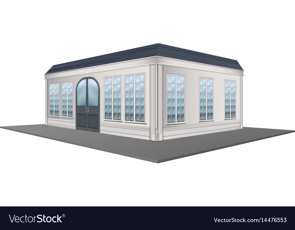 3d design for building with gray roof