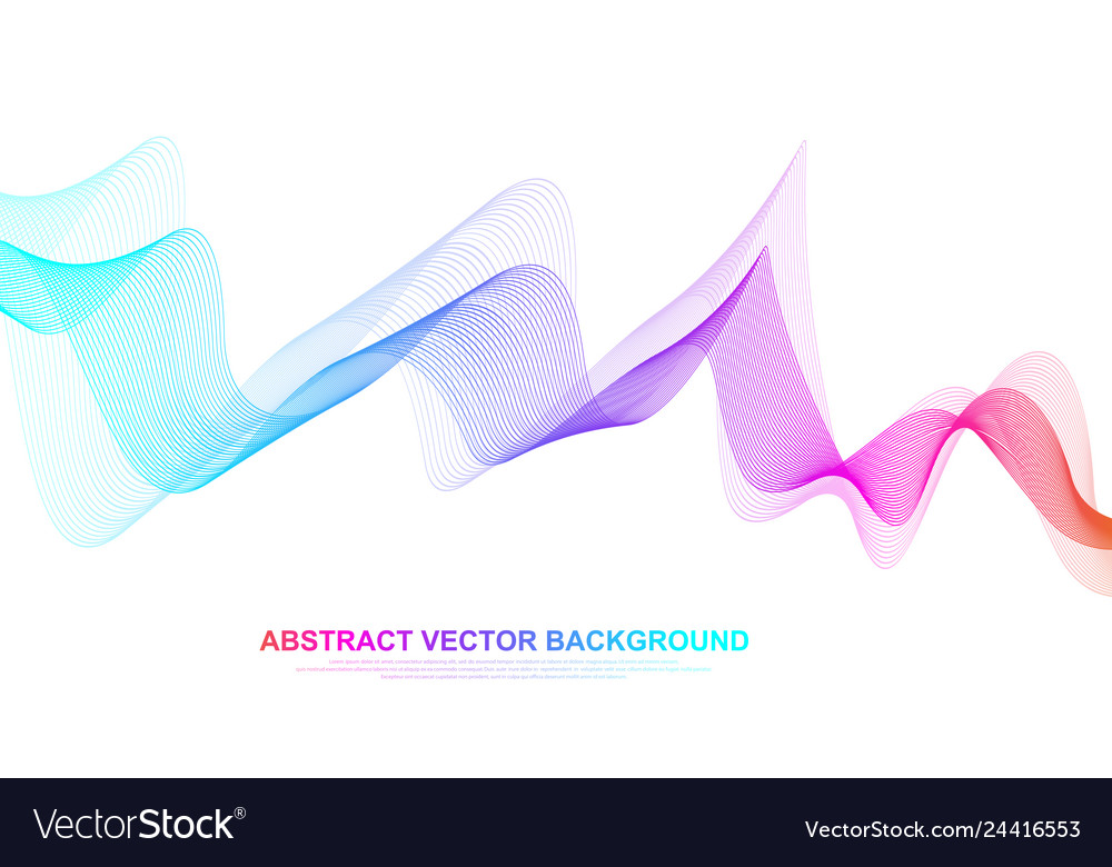 Abstract colorful wave lines background geometric