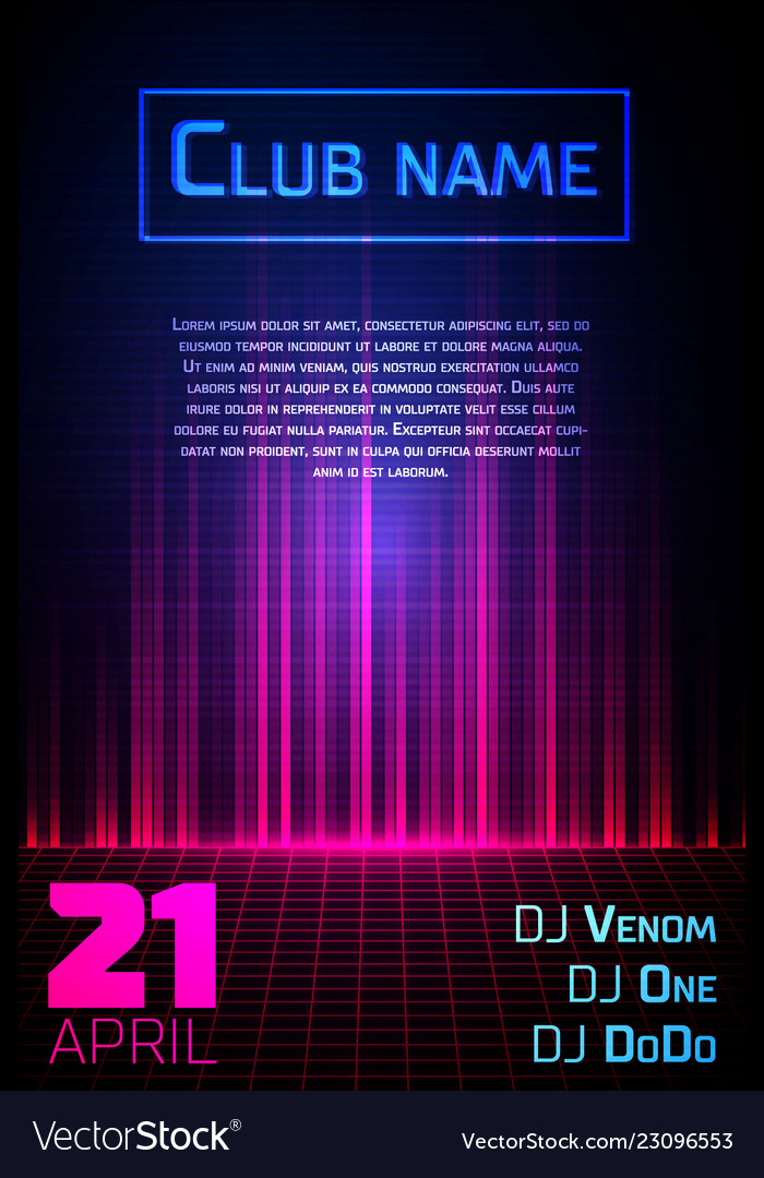Abstract equalizer background party flyer