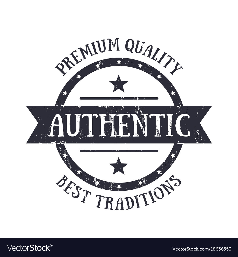 Authentic vintage emblem badge print