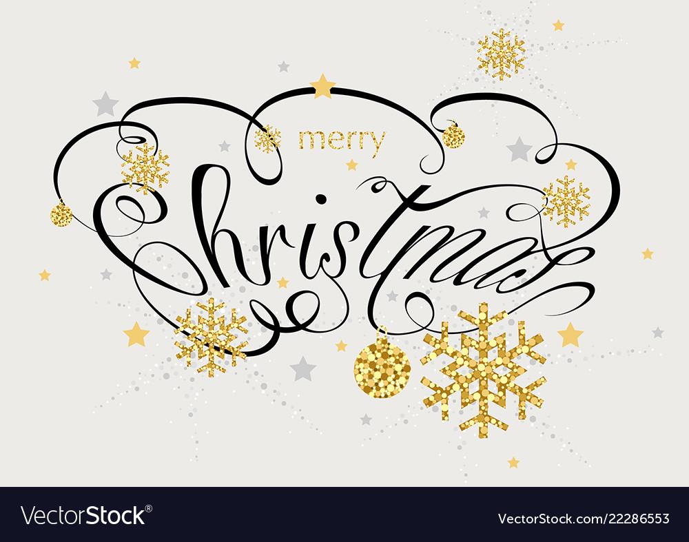 Christmas calligraphic inscription