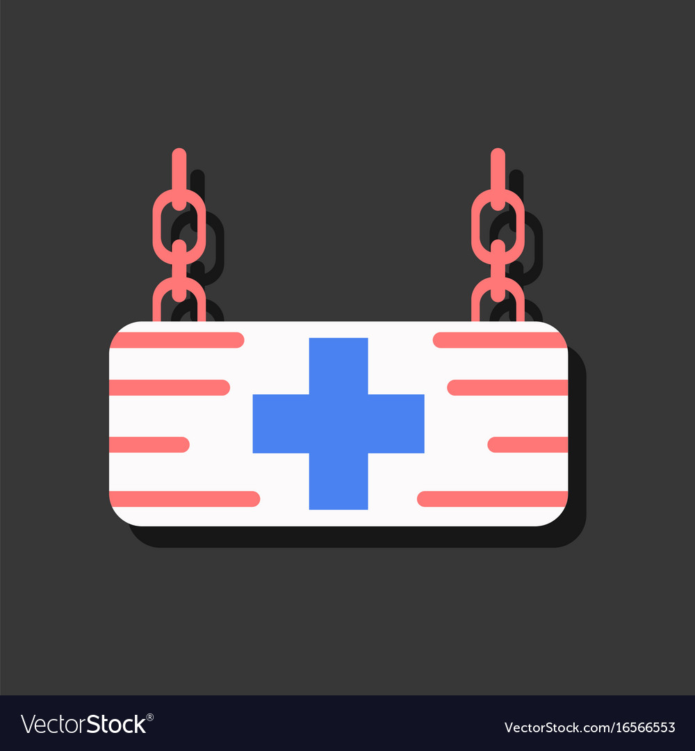 Flat icon design collection medical sign in