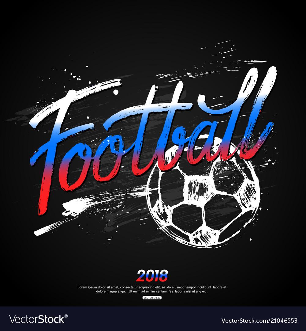 Football hand lettering design for banner poster