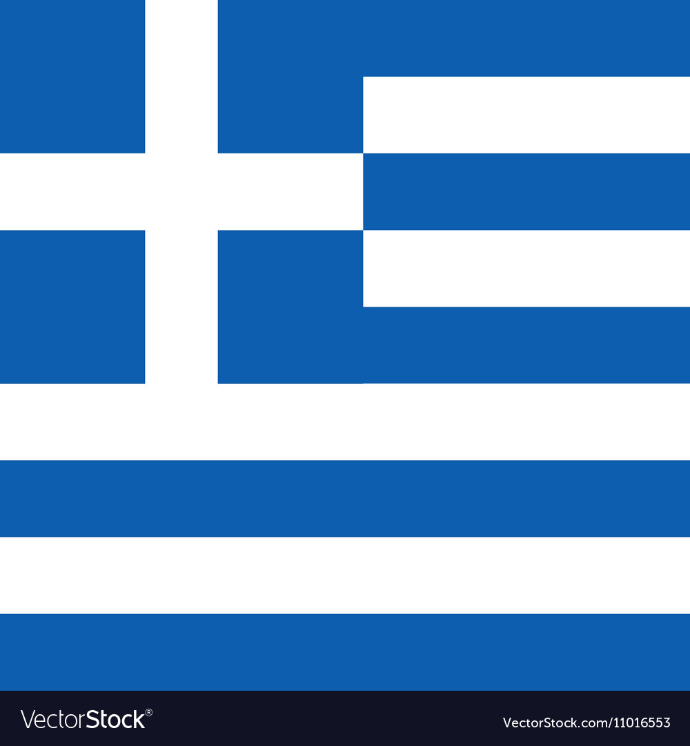 Greece flag hellas in blue and white color vector image