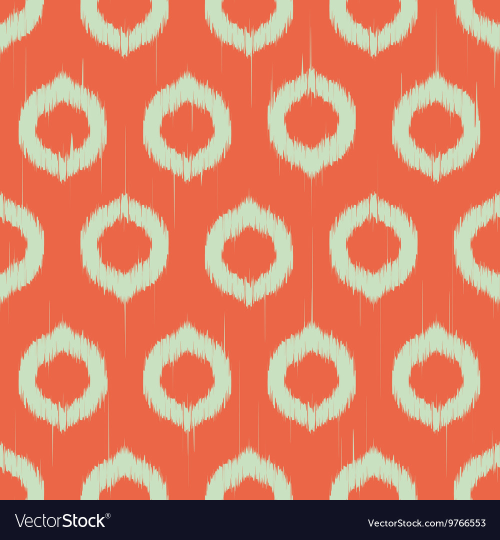 Ikat circles ethnic seamless pattern