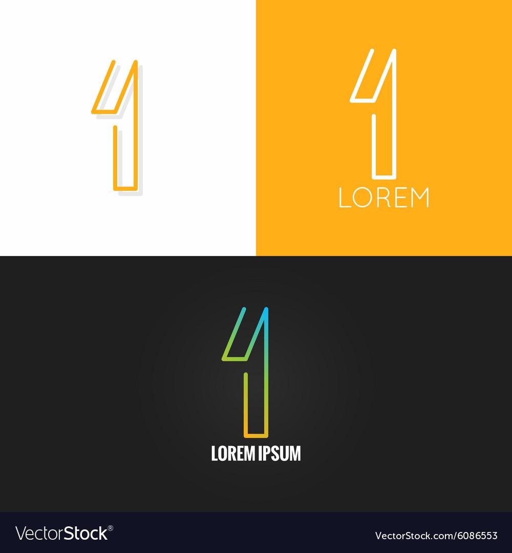 Number one 1 logo design icon set background