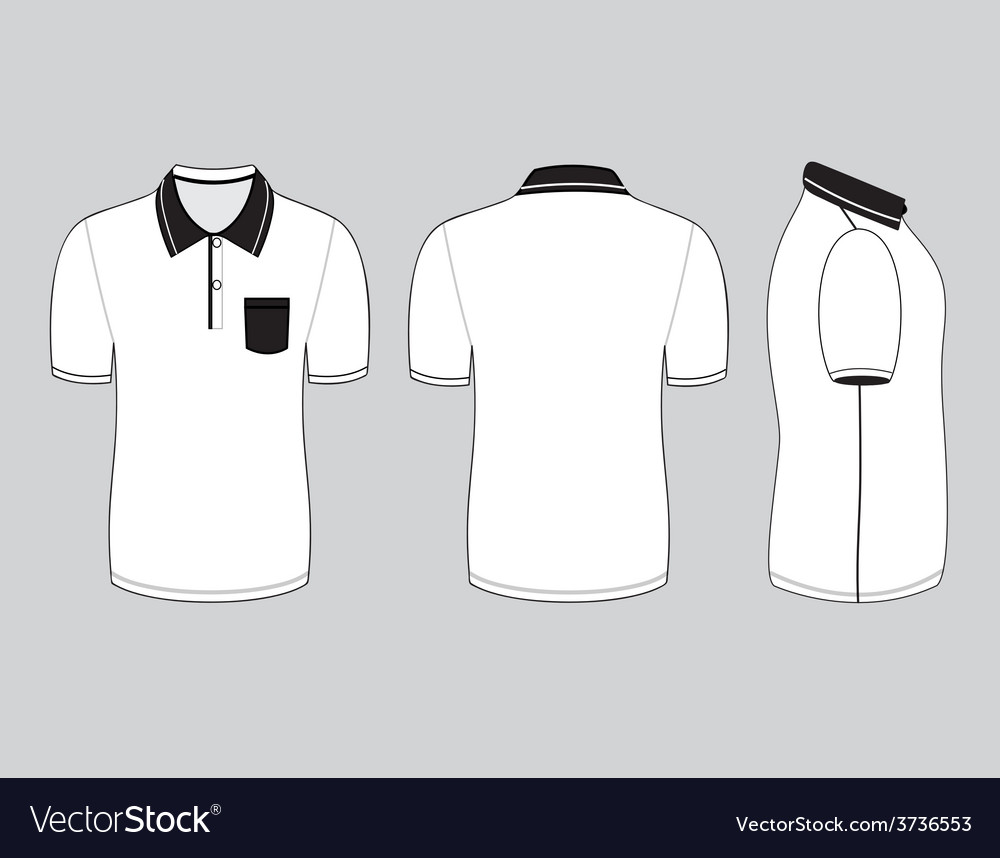 Polo shirt front and back view isolated royalty free cliparts.