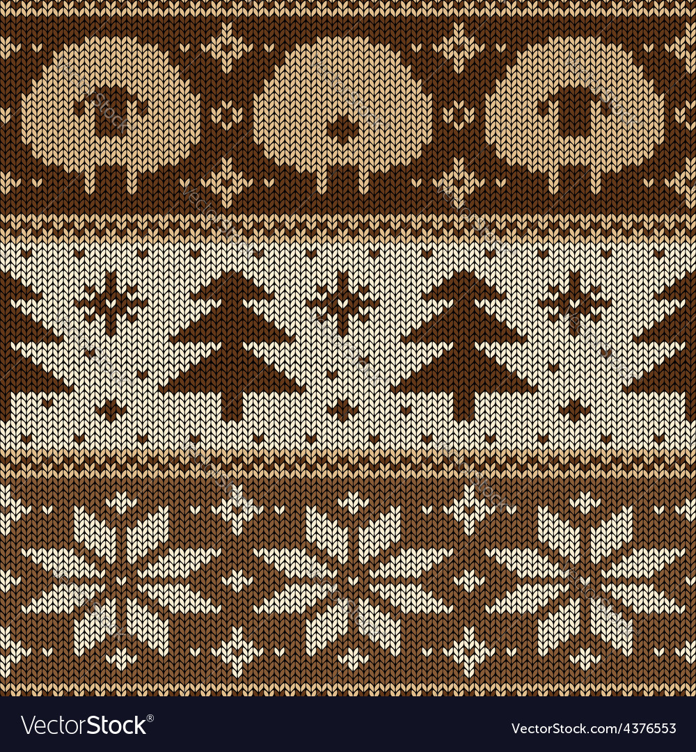 Scandinavian seamless knitted pattern Royalty Free Vector