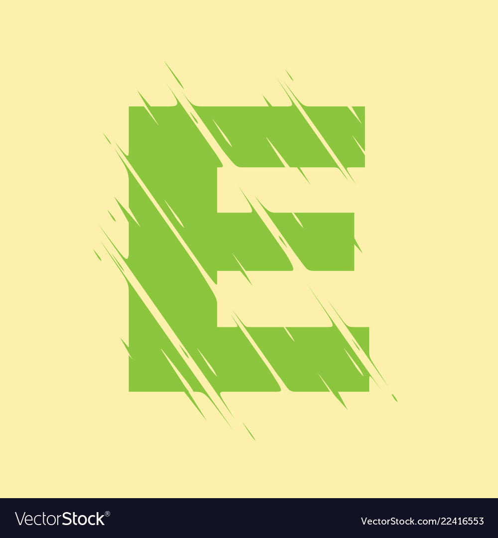 Scribbled letter e