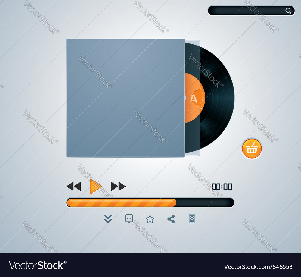 Vinyl disk in envelope music player