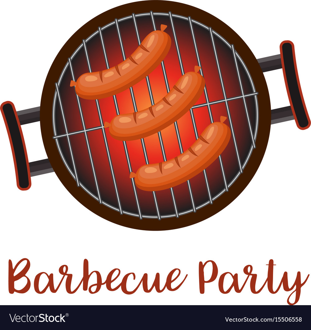 Barbecue pan with sausages