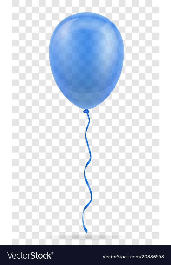 Celebratory blue transparent balloon pumped
