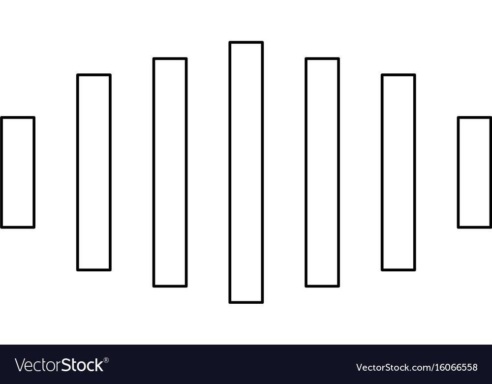 Digital signal black color path icon vector image