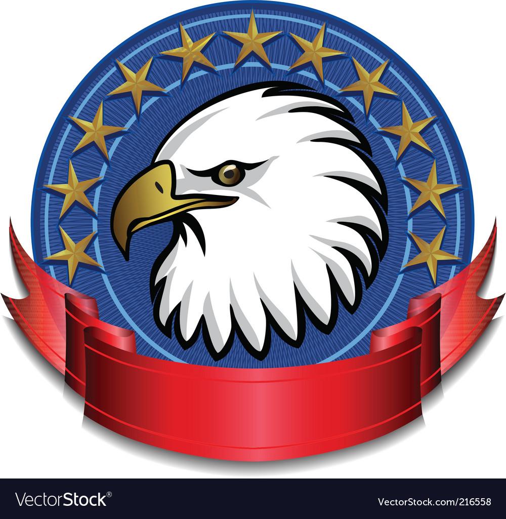 Eagle banner vector image